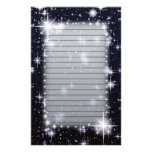 Bright Shining Stars In Space Lined Customised Stationery
