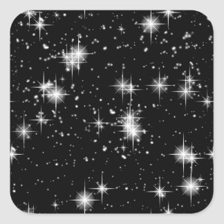 Bright Shining Stars In Space Square Sticker