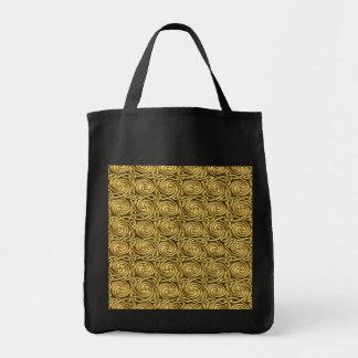 Bright Shiny Golden Celtic Spiral Knots Pattern Bag