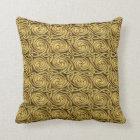 Bright Shiny Golden Celtic Spiral Knots Pattern Cushion