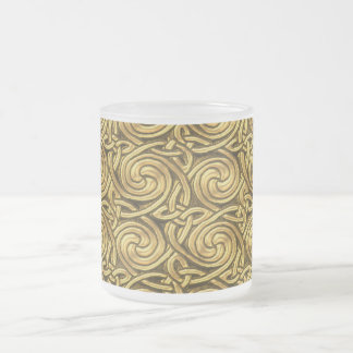 Bright Shiny Golden Celtic Spiral Knots Pattern Coffee Mugs
