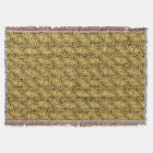 Bright Shiny Golden Celtic Spiral Knots Pattern Throw Blanket