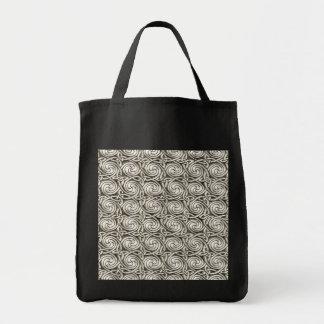 Bright Shiny Silver Celtic Spiral Knots Pattern Bag