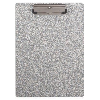 Bright silver glitter clipboard