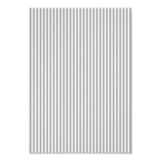 Bright Silver Thistle Cabana Stripe Pattern 9 Cm X 13 Cm Invitation Card