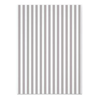 Bright Silver Thistle Cabana Stripe Pattern 11 Cm X 16 Cm Invitation Card