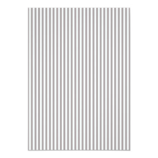 Bright Silver Thistle Cabana Stripe Pattern 13 Cm X 18 Cm Invitation Card