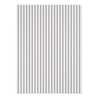 Bright Silver Thistle Cabana Stripe Pattern 14 Cm X 19 Cm Invitation Card