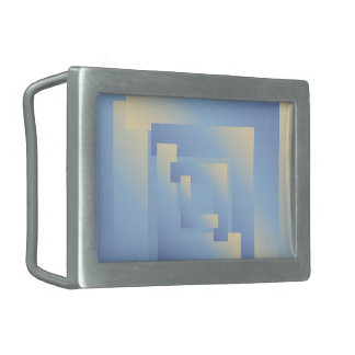 bright sky colors rectangular belt buckle