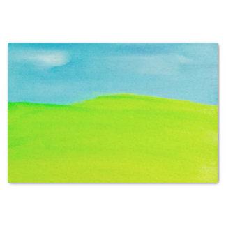Bright Sky Green Grass Tissue Paper