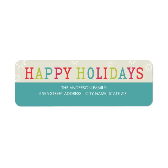 Bright Snowflakes by Origami Return Address Labels