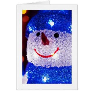 Bright Snowman Greeting Card