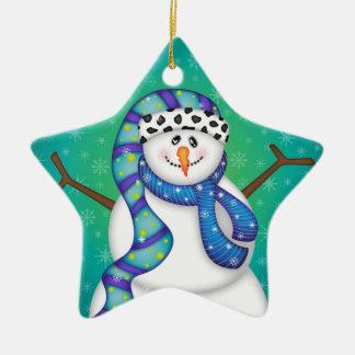 Bright Snowmen LET IT SNOW! Christmas Ornament