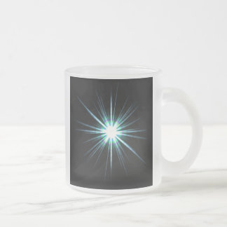 Bright Solar Flare Burst Frosted Glass Mug