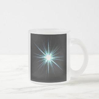 Bright Solar Flare Burst 10 Oz Frosted Glass Coffee Mug