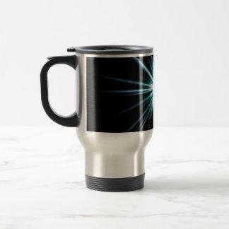 Bright Solar Flare Burst Stainless Steel Travel Mug