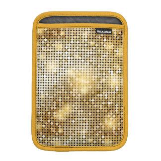 Bright sparkling golden sequin glitters disco ball iPad mini sleeve