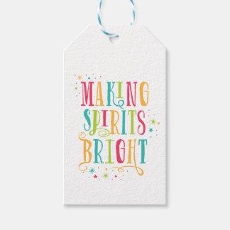 Bright Spirits Colorful Holiday Gift Tag