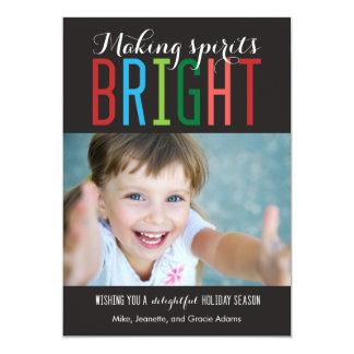 Bright Spirits Holiday Photo Cards
