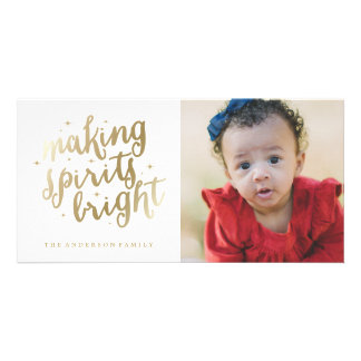 Bright Spirits | Holiday Photocard Card