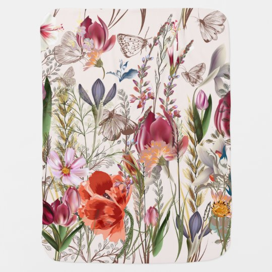 Bright spring field. Romantic pattern Baby Blanket