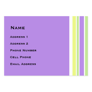 Bright Spring Stripes Business Card