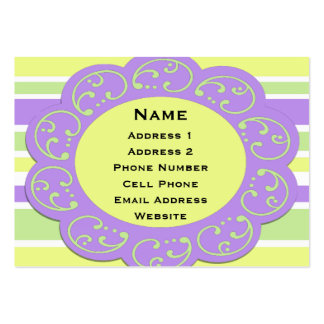 Bright Spring Stripes Business Cards
