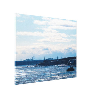 Bright St-Lawrence River Landscape Canvas Print