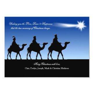 Bright Star Christmas Card 13 Cm X 18 Cm Invitation Card