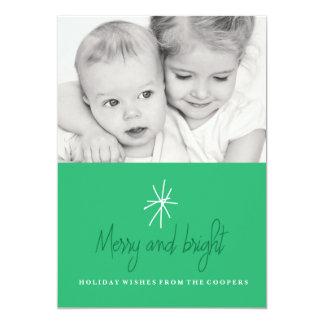 Bright Star Holiday Photo Card 13 Cm X 18 Cm Invitation Card
