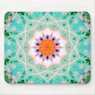 Bright Star-Shaped Mandala Art Mouse Mat