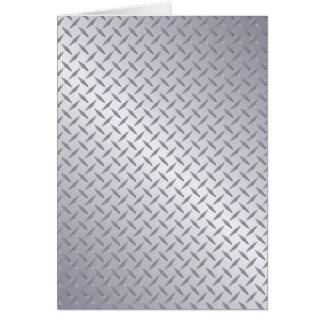 Bright Steel Diamond Plate Background Card