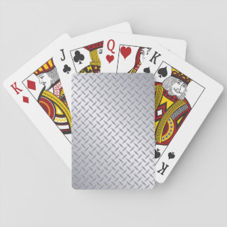 Bright Steel Diamond Plate Background Playing Cards
