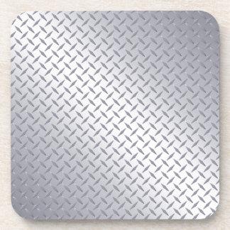 Bright Steel Diamond Plate Coaster