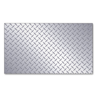 Bright Steel Diamond Plate Look Magnetic Business Cards (Pack Of 25)