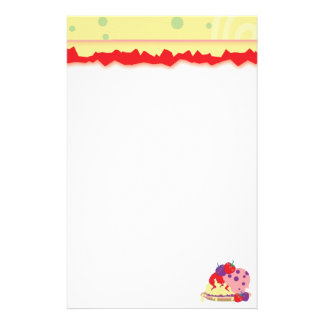 Bright Strawberries And Ice Cream Art Stationery