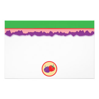Bright Strawberry Cream Pie Art Stationery