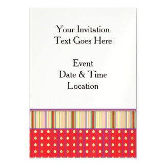 Bright Strawberry Seeds Pattern With Border Magnetic Invitations