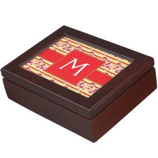 Bright Strawberry Sweet Treats Pattern - Initial Keepsake Box