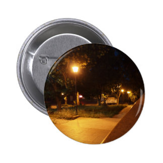 Bright street lights and staircase of granite 6 cm round badge