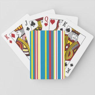 Bright stripe playing card deck