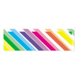 Bright Stripes  Bookmark Pack Of Skinny Business Cards
