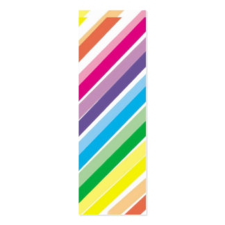 Bright Stripes  Bookmark Business Card