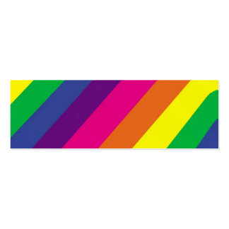 Bright Stripes  Bookmark Business Cards
