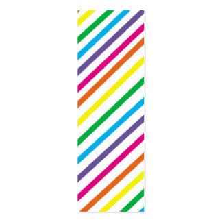 Bright Stripes  Bookmark Double-Sided Mini Business Cards (Pack Of 20)