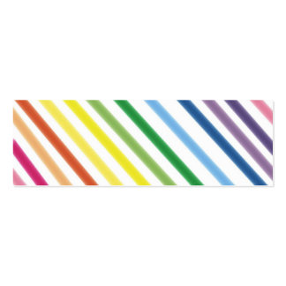 Bright Stripes  Bookmark Business Card Template