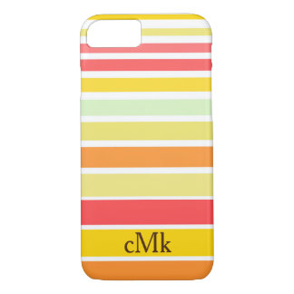 Bright stripes with monogram iPhone 8/7 case