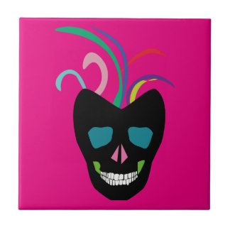 Bright Sugar Skull Tile