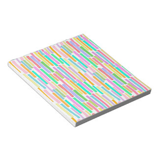 Bright summer colors modern art stripes pattern memo pad