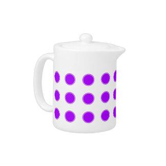 Bright Summer Grape Polka Dots on White